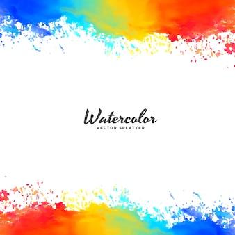 Waterverf frame achtergrond in heldere kleuren