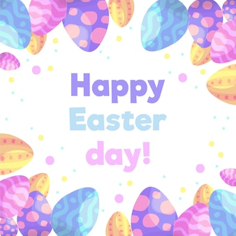 Waterverf gelukkige pasen dag eieren