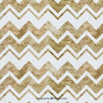 Waterverf het zigzag bruin patroon