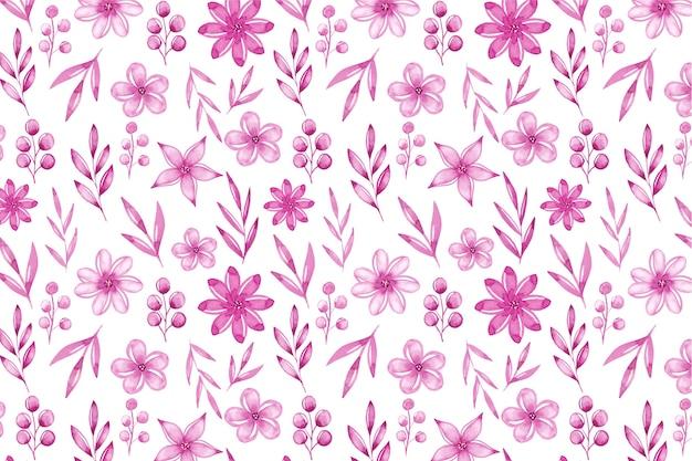 Waterverf monochromatische bloemenachtergrond