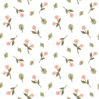Waterverf naadloos patroon met bloemen in een romantische stijl.