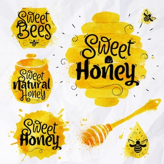 Waterverf symbolen honing