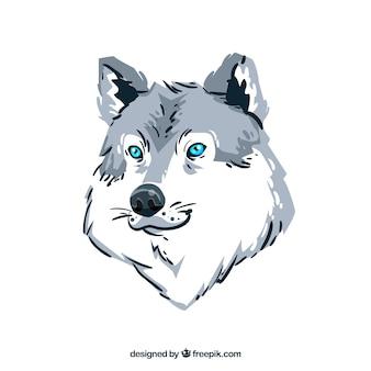Waterverf wolf achtergrond
