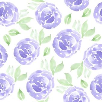 Waterverfbloemen patroon
