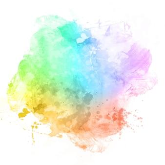 Waterverftextuur met een kleurrijke overlay