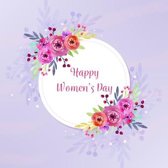 Waterverfthema voor de dagviering van vrouwen