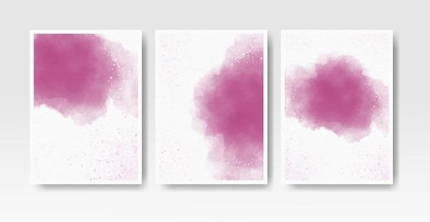 Waterverfwasplons voor de collectie van de uitnodigingskaartsjabloon