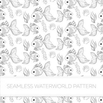Waterworld patroon ontwerp