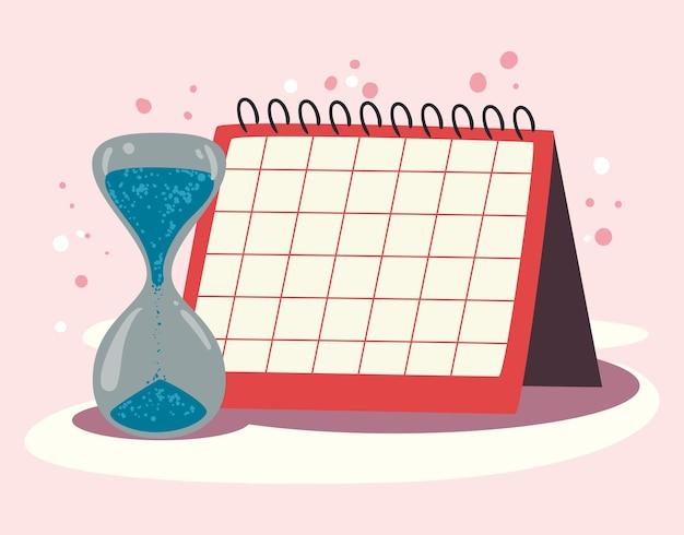 Waterzandloper en kalender