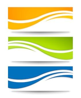 Wave banners voor web