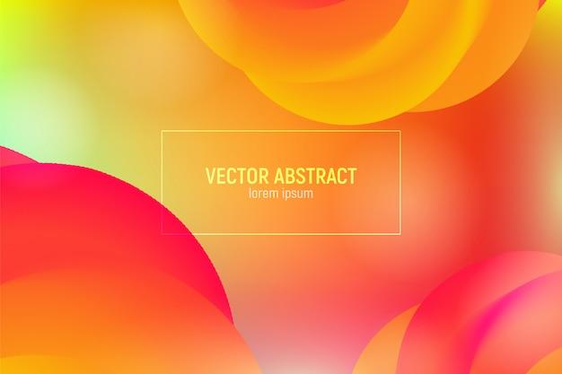 Wave flow shape. abstracte 3d achtergrond. moderne kleurrijke vloeistof.