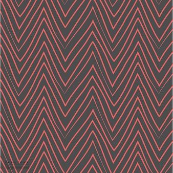 Wave patroon met de hand getrokken