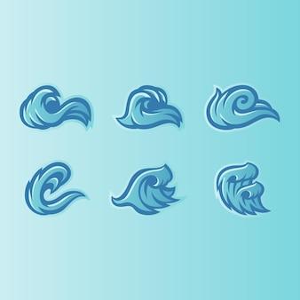 Wave pictogrammen logo ontwerp