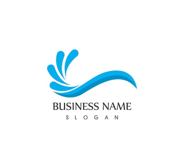 Wave strand pictogram logo vector ontwerpsjabloon