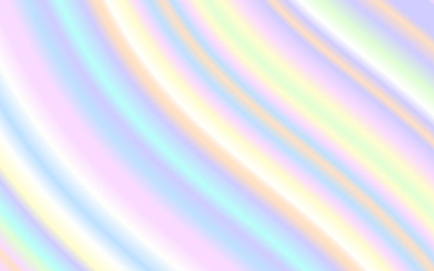 Wave vloeibare vorm pastel regenboog kleur achtergrond