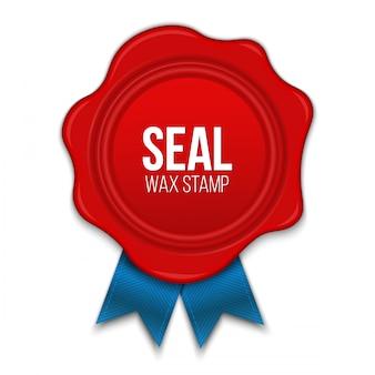 Wax zeehonden met touw lege sjabloon stempel.