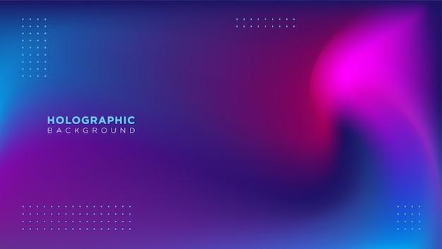 Wazig abstracte holografische achtergrond met kleurovergang