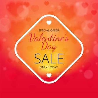 Wazig abstracte speciale aanbieding banner valentijnsdag verkoop