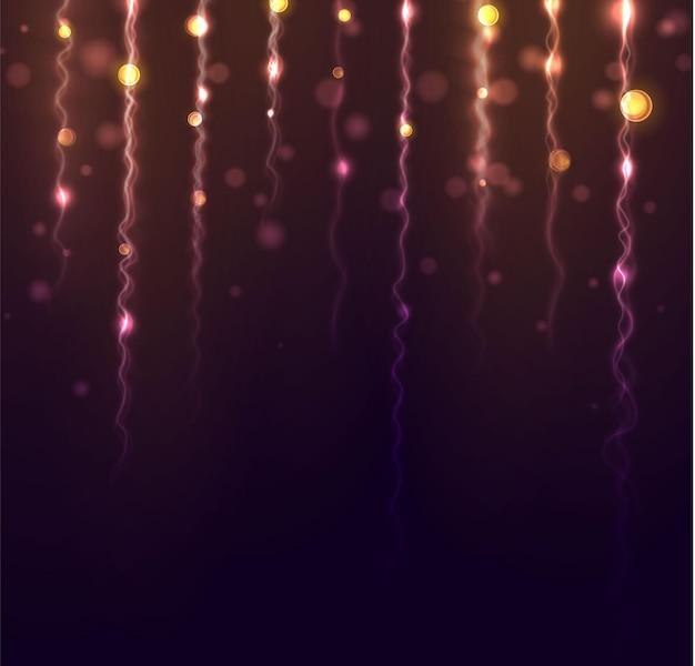 Wazig bokeh licht op zwarte achtergrond
