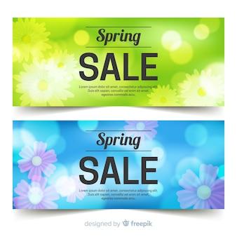 Wazig cirkels lente verkoop banner
