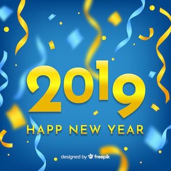 Wazig confetti nieuwjaar achtergrond