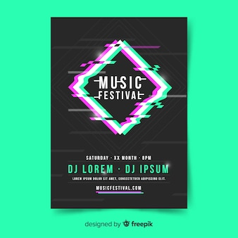 Wazig diamant muziekfestival poster