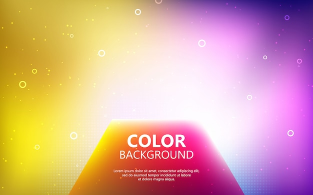 Wazig felle kleuren achtergrond. kleurrijk gradiëneconcept met veelhoek en geometrische vorm