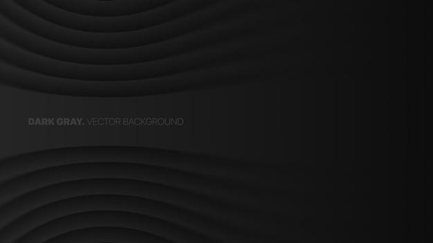 Wazig gebogen vloeiende lijnen donkergrijs futuristische technologie abstracte achtergrond