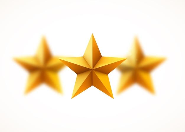Wazig gouden sterren.