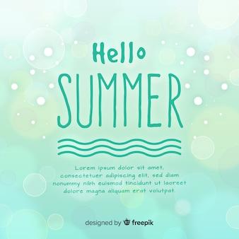 Wazig hallo zomer achtergrond