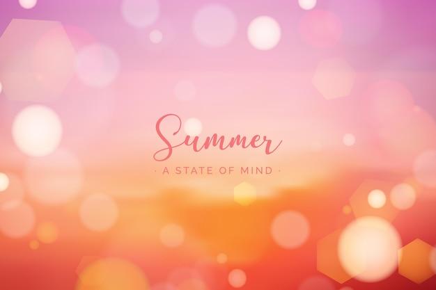 Wazig hallo zomer concept