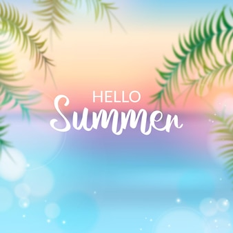 Wazig hallo zomer thema