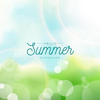 Wazig hallo zomer