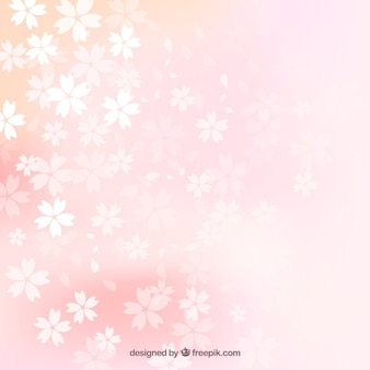 Wazig kersenbloesems achtergrond
