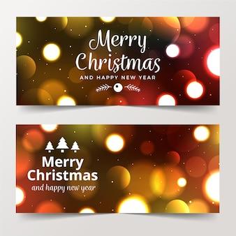 Wazig kerst banners concept