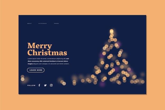 Wazig kerst bestemmingspagina sjabloon