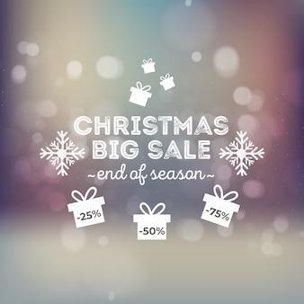 Wazig kerst grote verkoop banner