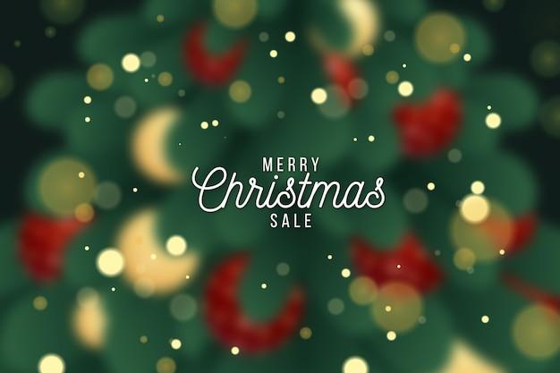 Wazig kerst verkoop concept