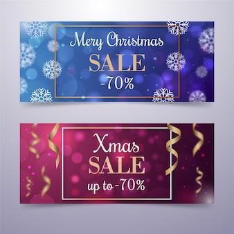 Wazig kerst verkoop sjabloon voor spandoek