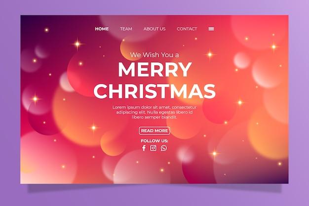 Wazig kerstmis bestemmingspagina
