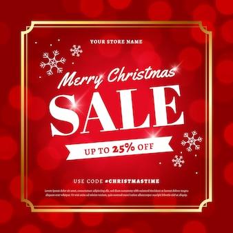 Wazig kerstmis verkoop concept