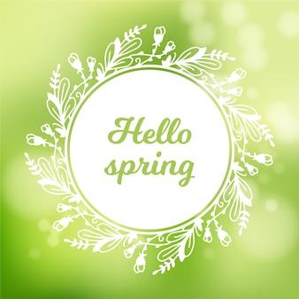 Wazig lente achtergrond concept