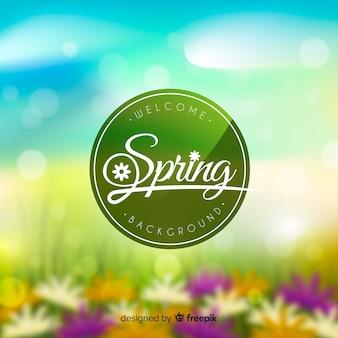 Wazig lente achtergrond