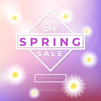 Wazig lente verkoop banner