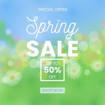 Wazig lente verkoop