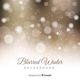 Wazig lights winter achtergrond