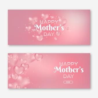 Wazig moederdag banners