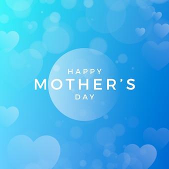 Wazig moederdag met hart