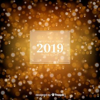 Wazig nieuw jaar 2019 achtergrond