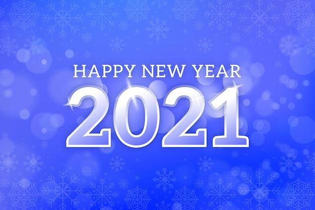 Wazig nieuwjaar 2021 achtergrond